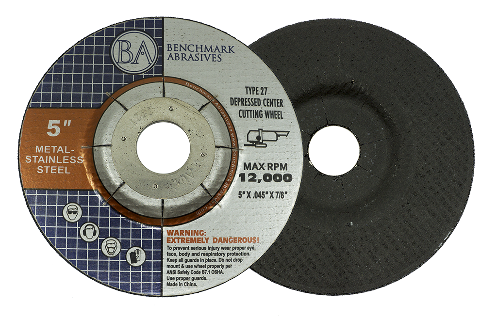 "5"" x .040"" x 7/8"" T27 Cutting Wheel Wheel - 25 Pack"