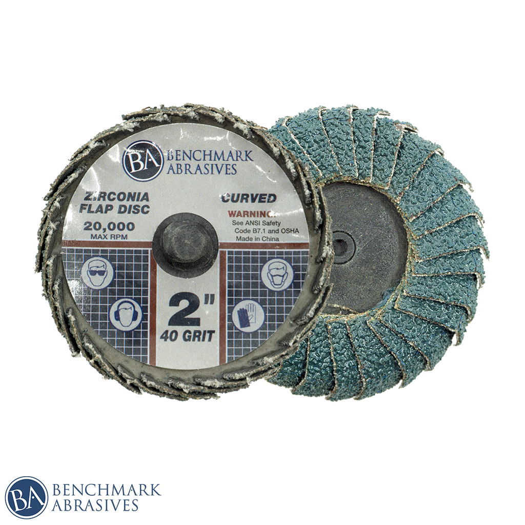 "2"" Curved Zirconia Flap Discs"