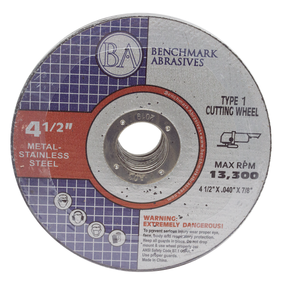 "4 1/2"" x .040 x 7/8"" T1 Premium Thin Cut-off Wheel - 25 pack"
