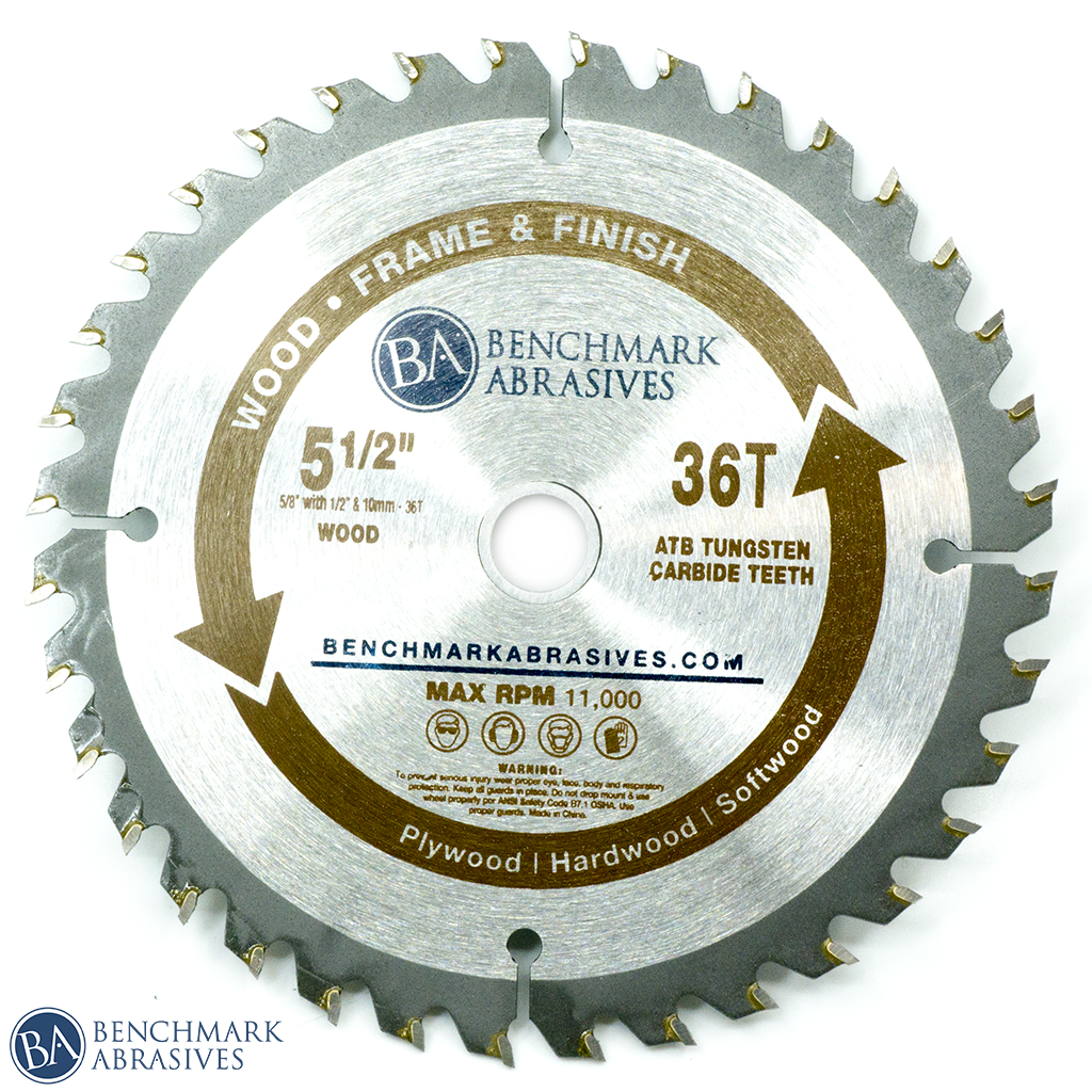 "5-1/2"" 36 Tooth TCT Saw Blade for Finishing & Framing"