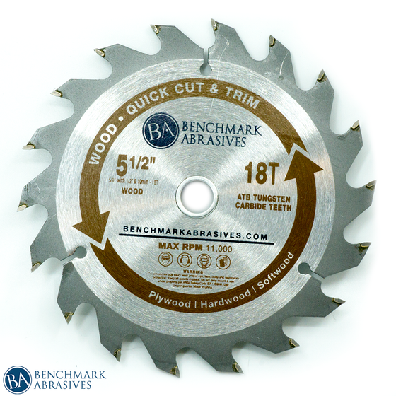 5-1/2 inch 18 Tooth TCT Saw Blade for Fast Cutting