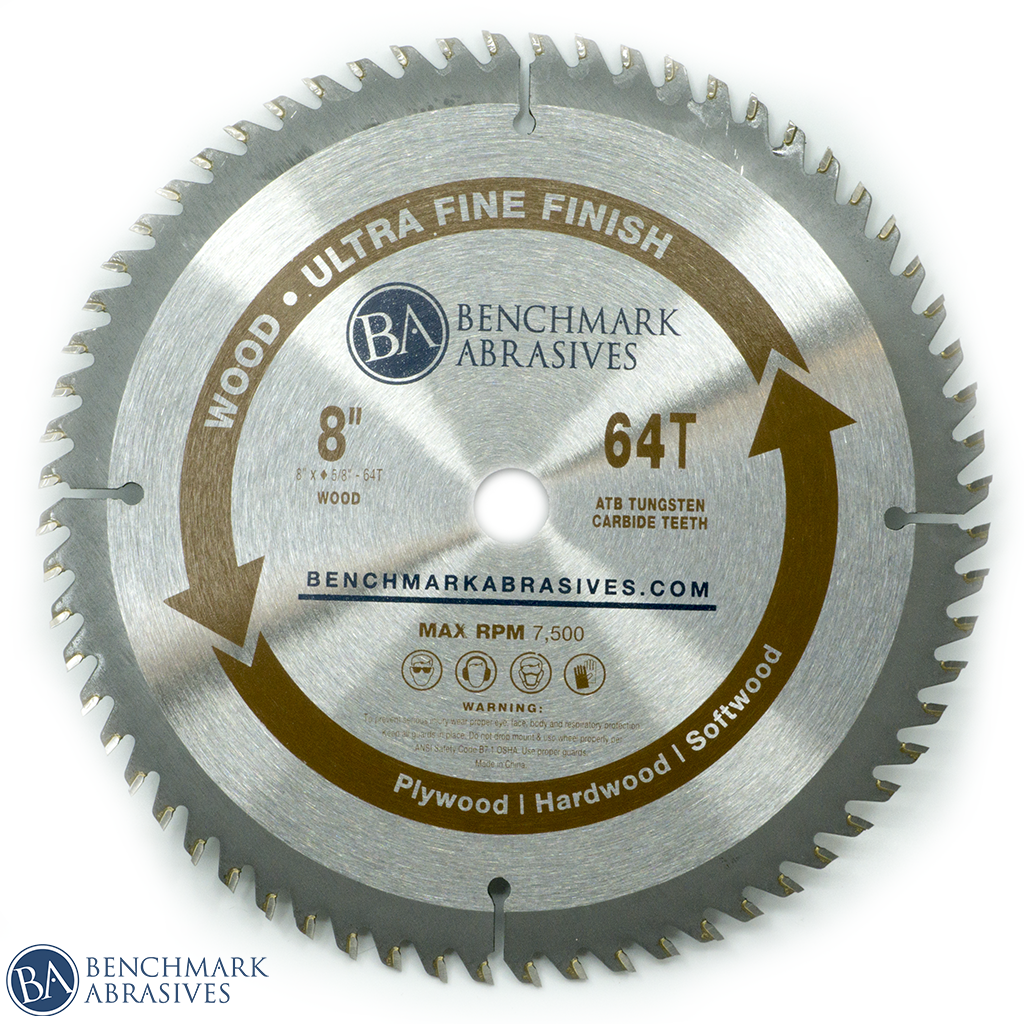 "8"" 64 Tooth TCT Saw Blade for Fine Finishing"