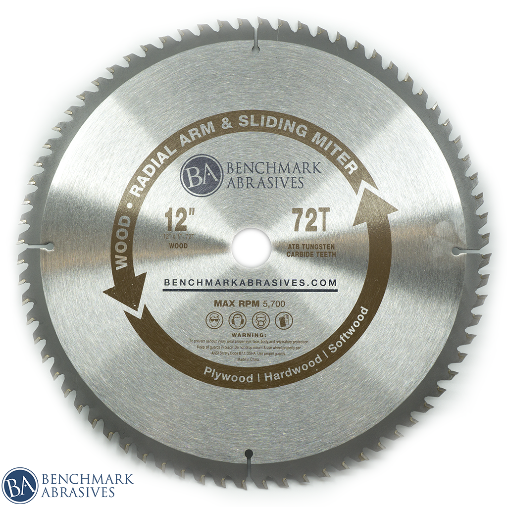 12 inch 72 Tooth TCT Saw Blade for Finishing
