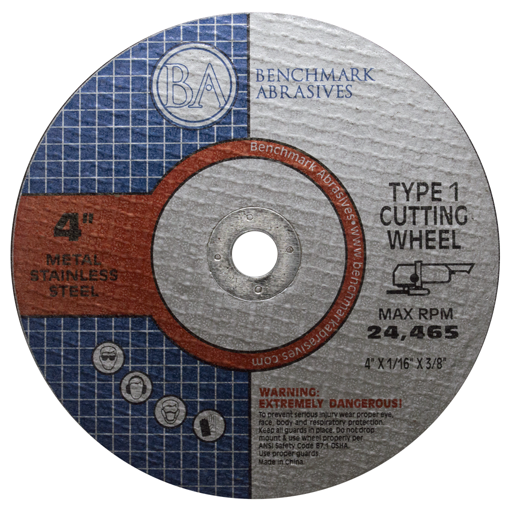"4"" x 1/16"" x 3/8"" T1 Premium Thin Cut-off Wheel - 25 pack"