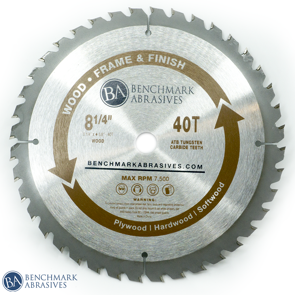 "8-1/4"" 40 Tooth TCT Saw Blade for Finishing & Framing"