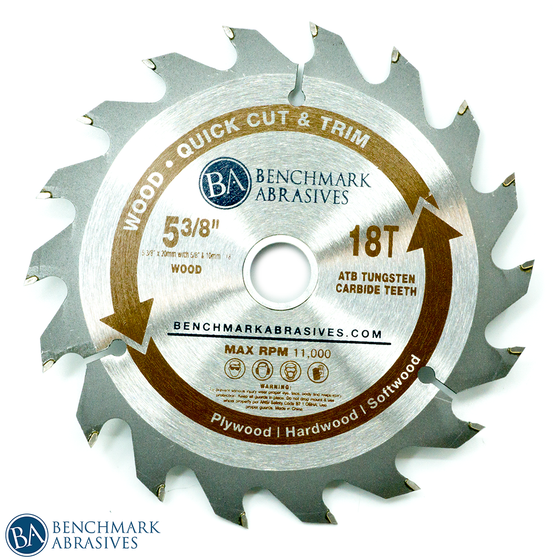"5-3/8"" 18 Tooth TCT Saw Blade for Fast Cutting & Trimming"