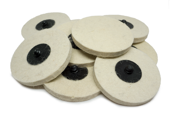 "3"" Felt Polishing Quick Change Discs"