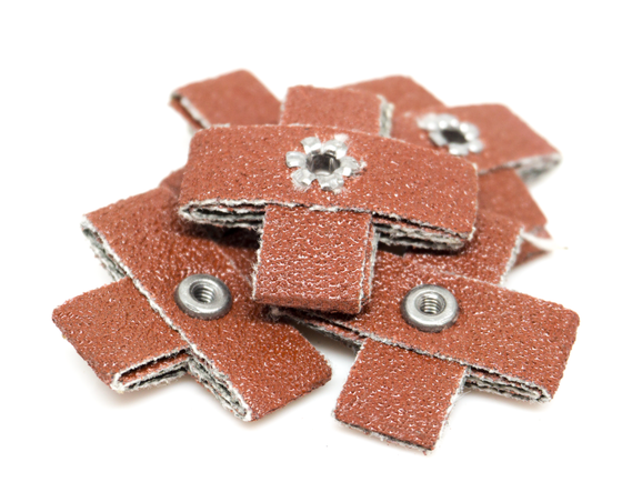 "1"" x 3/8"" x 3/48"" Aluminum Oxide Cross Pad - 5 Pack"