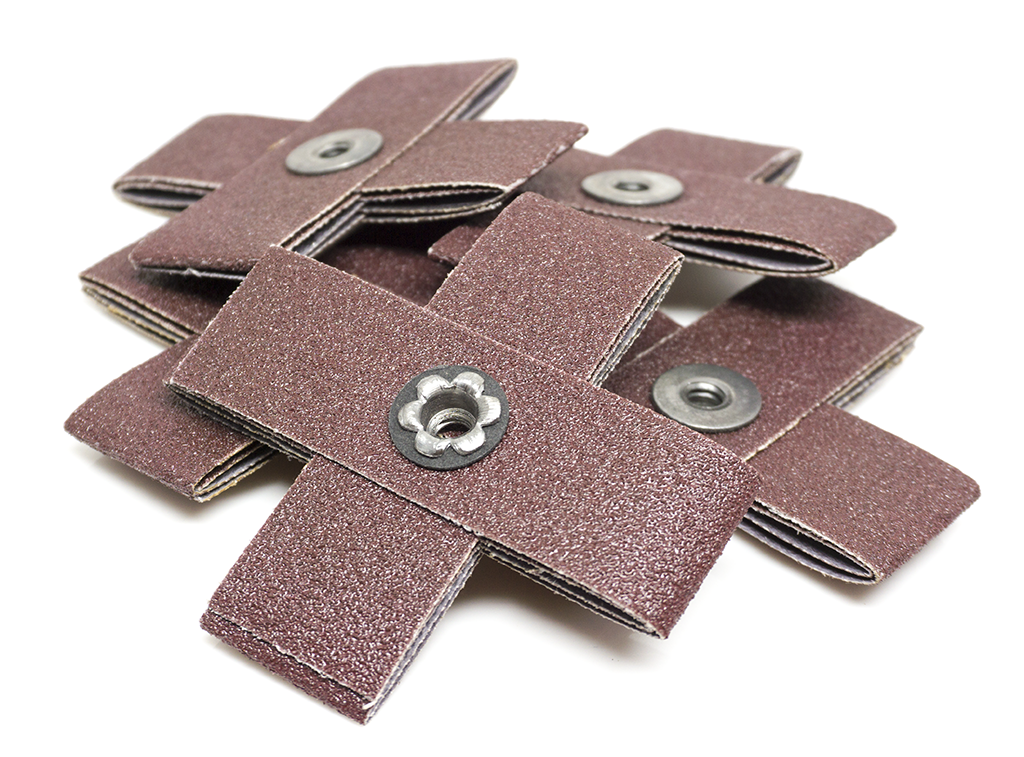 "3"" x 1"" x 1/4""-20 Aluminum Oxide Cross Pad - 5 Pack"