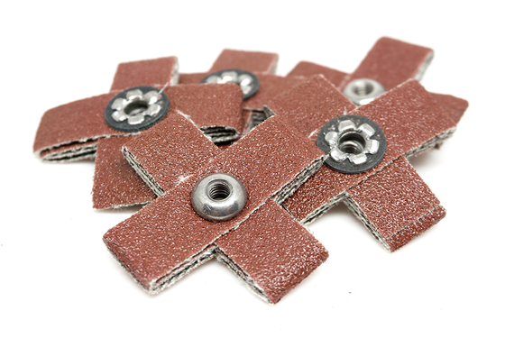 "1-1/2"" x 1/2"" x 8/32"" Aluminum Oxide Cross Pad - 5 Pack"