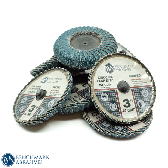 "3"" Curved Quick Change Zirconia Flap Discs"