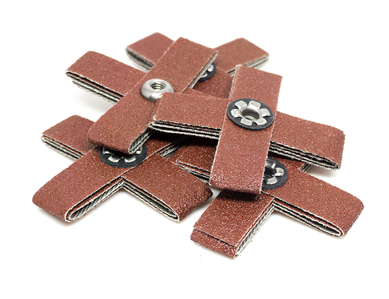 "2"" x 1/2"" x 8/32"" Aluminum Oxide Cross Pad - 5 Pack"