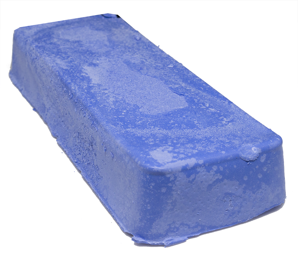 Blue Plastic Buffing Compound - 1 Pound Bar