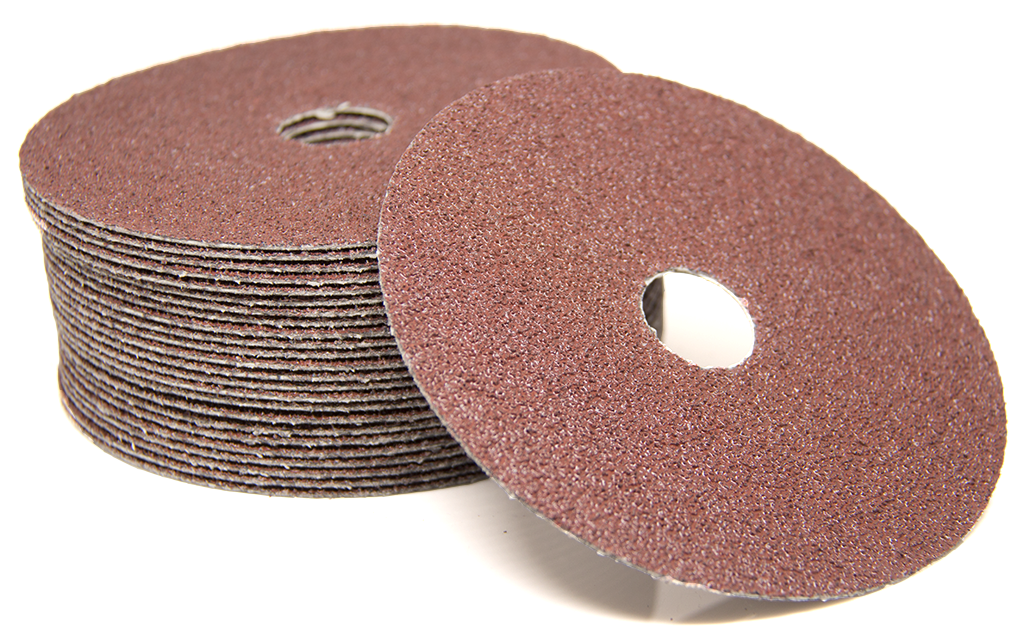 "5"" x 7/8"" Aluminum Oxide Resin Fiber Disc - 25 pack"