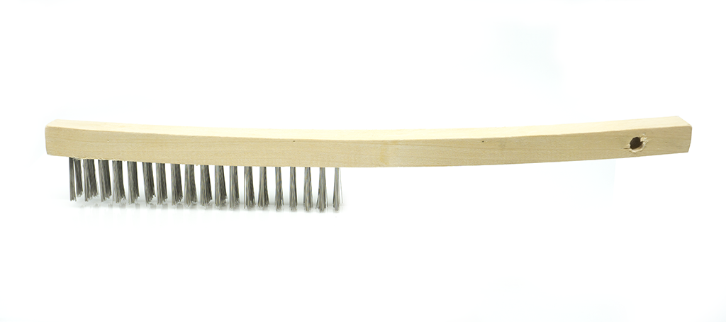"13-3/4"" Wire Scratch Brush for clean surfaces"