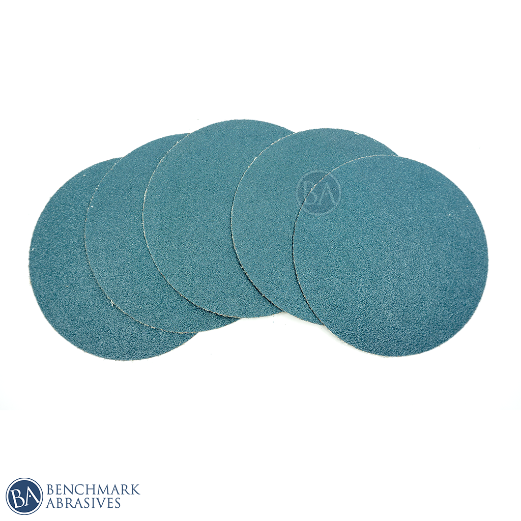 "6"" Cloth Backed Peel and Stick Zirconia PSA Disc - 10 Pack"