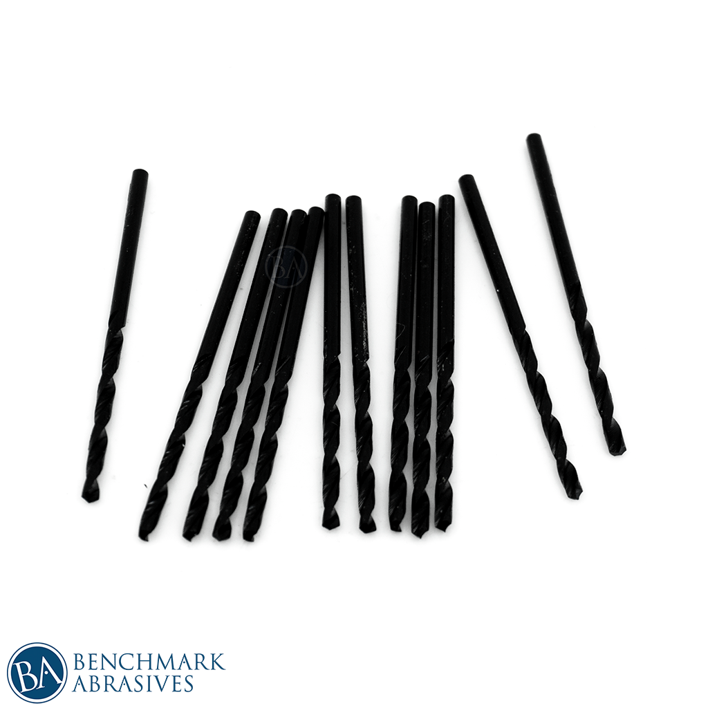 #44 HSS Black Oxide Jobber Length Drill Bit - 12 Pack