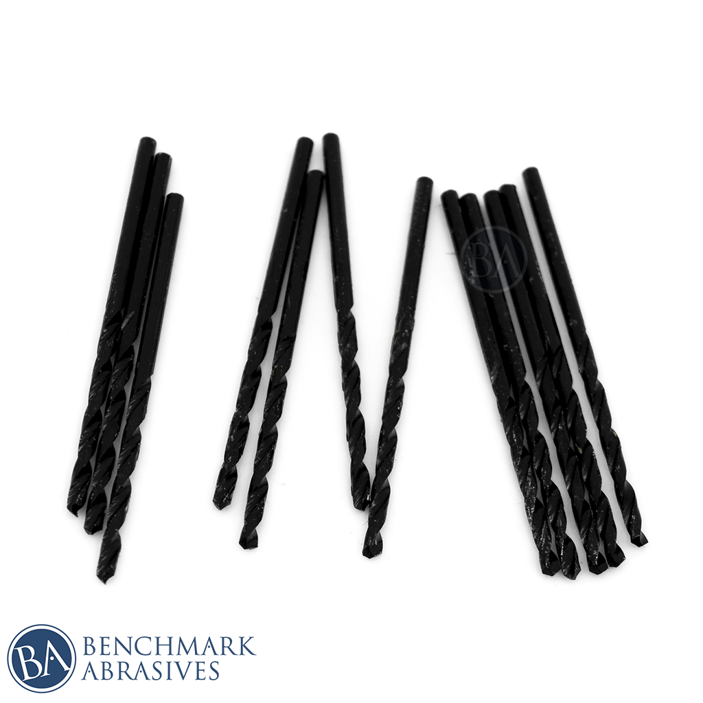 #45 HSS Black Oxide Jobber Length Drill Bit - 12 Pack