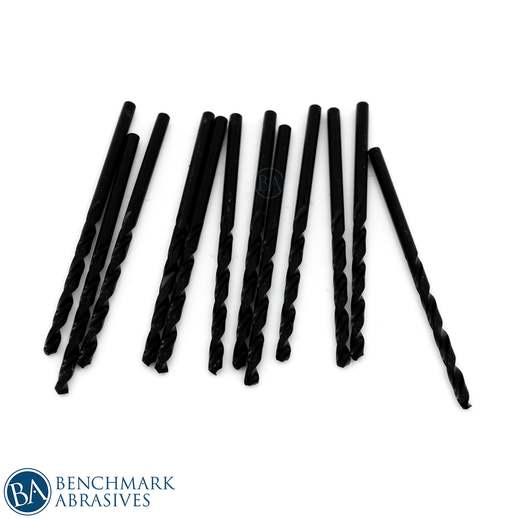 #41 HSS Black Oxide Jobber Length Drill Bit - 12 Pack