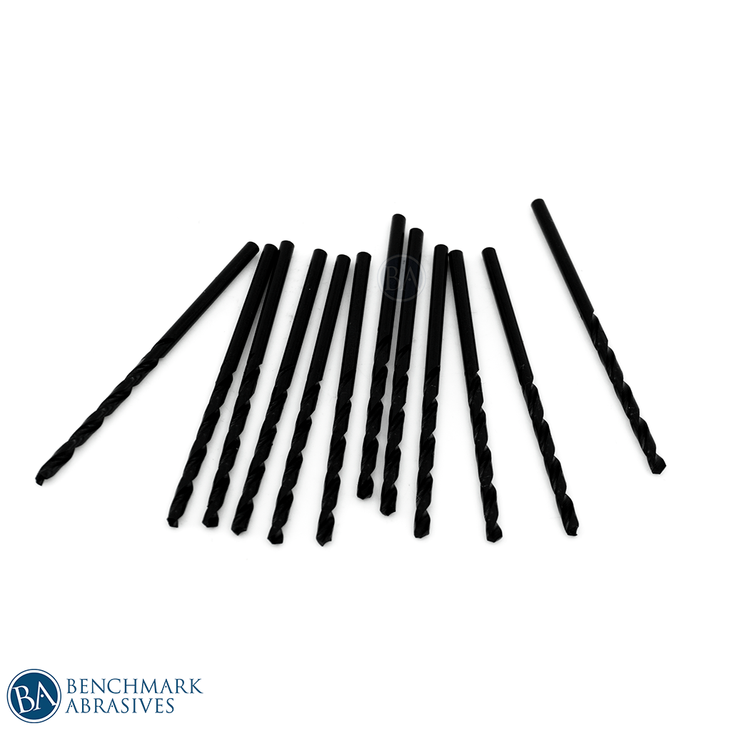 #37 HSS Black Oxide Jobber Length Drill Bit - 12 Pack