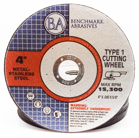 "4"" x .040"" x 5/8"" T1 Premium Thin Cut-off Wheel - 25 pack"