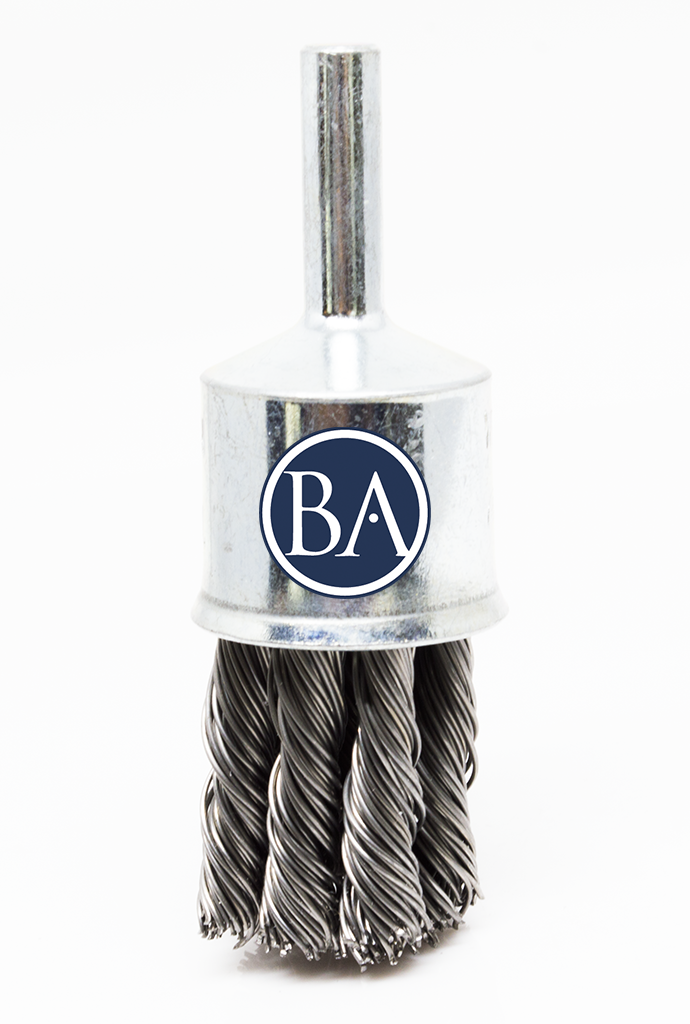 "3/4"" Knot Wire End Brush - Carbon Steel Wire"