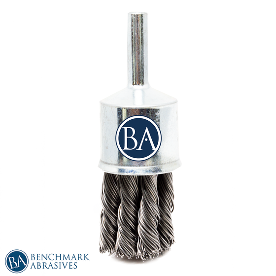 "1"" Crimped Wire End Brush - Carbon Steel Wire"