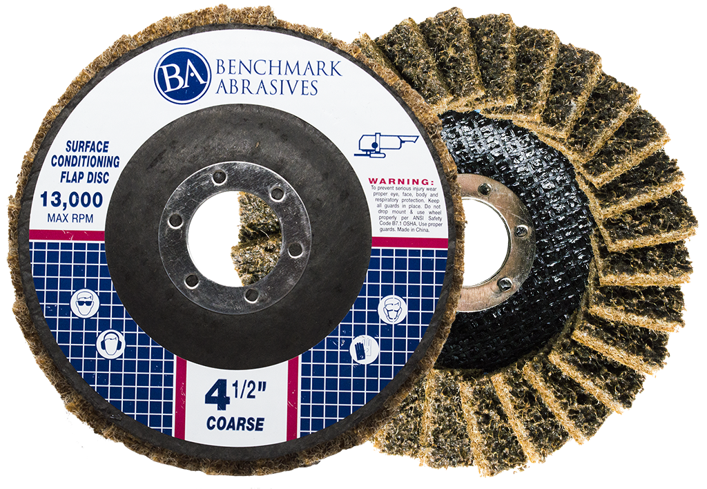Coarse (Tan) - 120 Grit Surface Conditioning Flap Disc