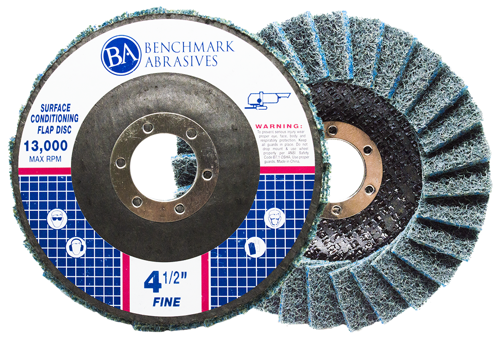 "4-1/2"" x 7/8"" Surface Conditioning Flap Disc Type 27 (Flat Face)"