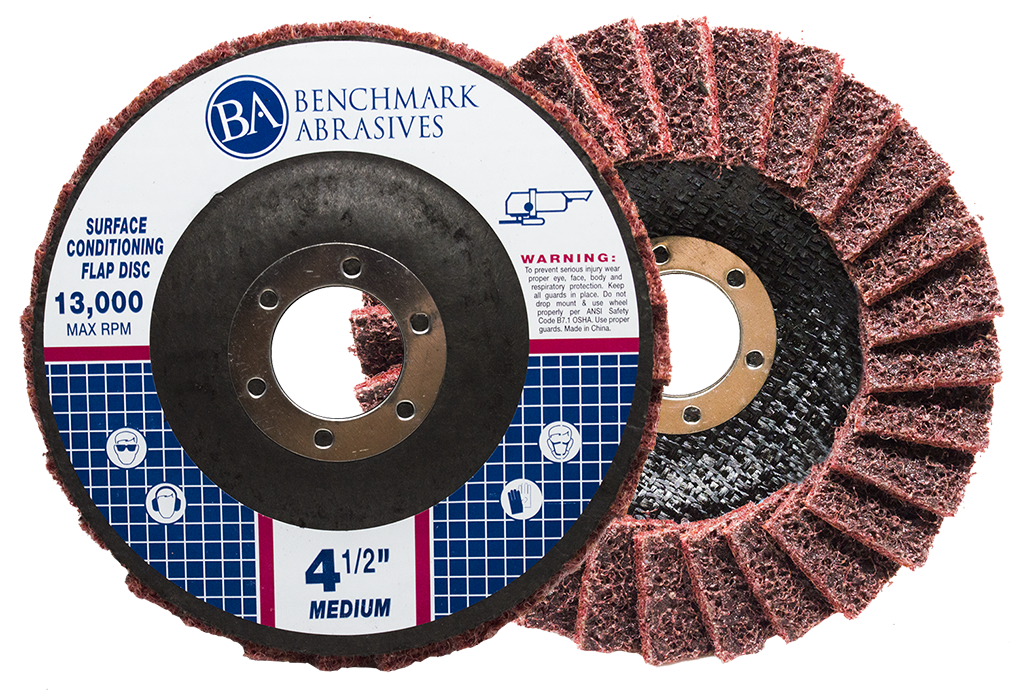 Medium (Red) - 180 Grit Surface Conditioning Flap Disc