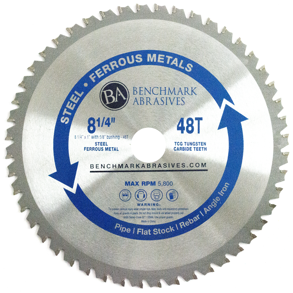 "8-1/4"" 48 Tooth TCT Saw Blade for Steel/Metal"