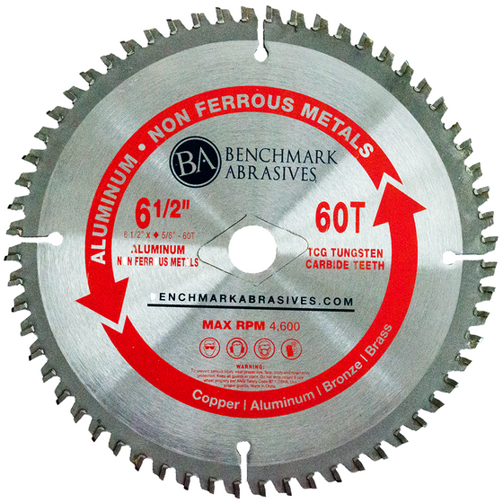 "6-1/2"" 60 Tooth TCT Saw Blade for Aluminum"