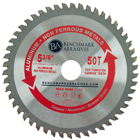 "5-3/8"" 50 Tooth TCT Saw Blade for Aluminum"