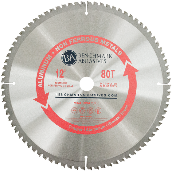 "12"" 80 Tooth TCT Saw Blade for Aluminum"