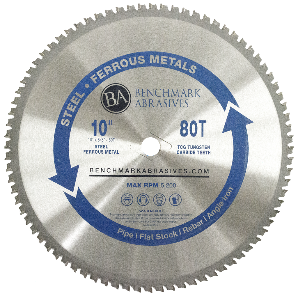 "10"" 80 Tooth TCT Saw Blade for Steel/Metal"