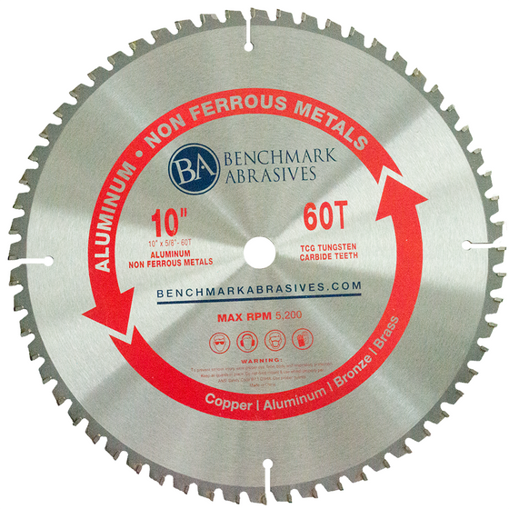 "10"" 60 Tooth TCT Saw Blade for Aluminum"