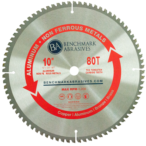 "10"" 80 Tooth TCT Saw Blade for Aluminum"
