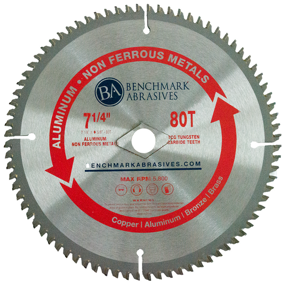 "7-1/4"" 80 Tooth TCT Saw Blade for Aluminum"