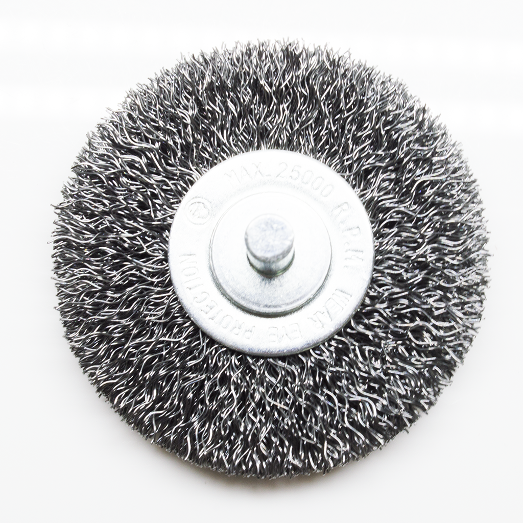 "2-1/2"" Mounted Crimped Wire Wheel - Carbon Steel Wire"