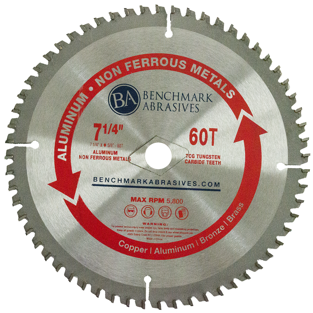 "7-1/4"" 60 Tooth TCT Saw Blade for Aluminum"
