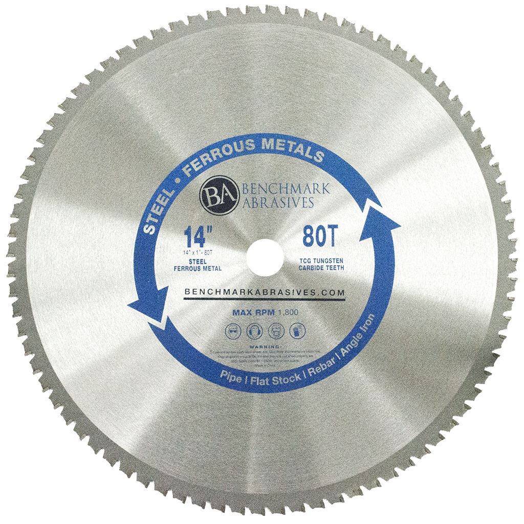 14-inch 80 Tooth TCT Saw Blade for Steel