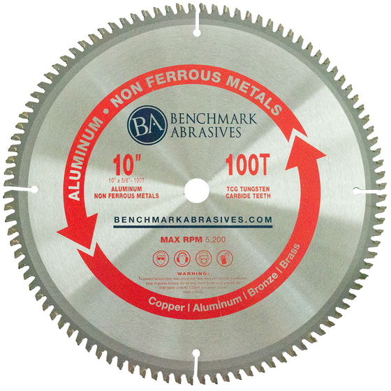 "10"" 100 Tooth TCT Saw Blade for Aluminum"
