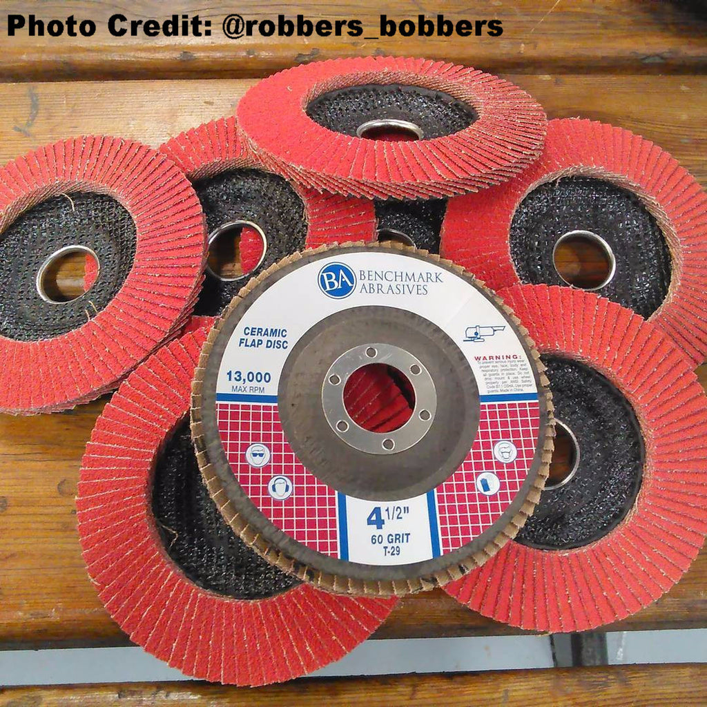 "4-1/2"" x 7/8"" T29 Ceramic Flap Disc - 1 Piece"