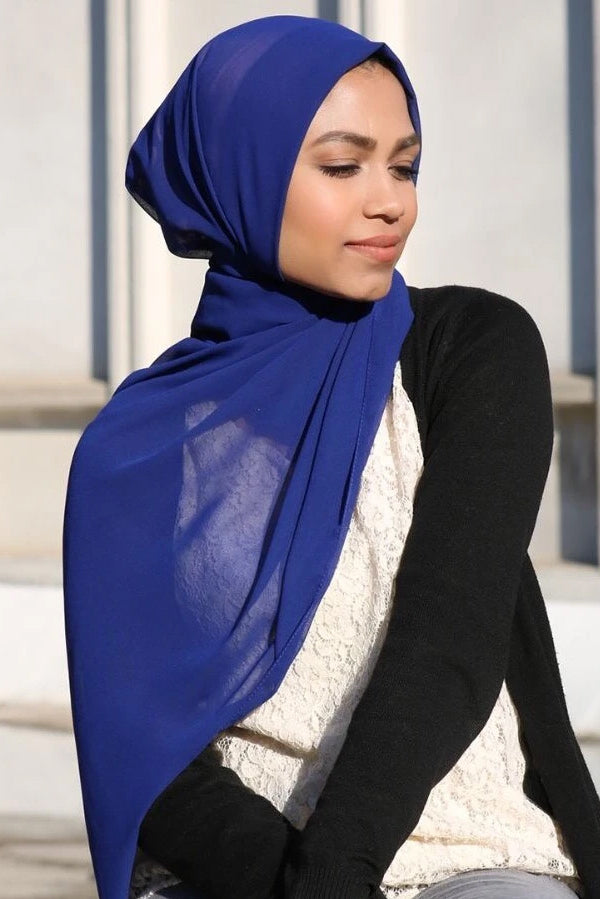 PREMIUM CHIFFON ROYAL BLUE