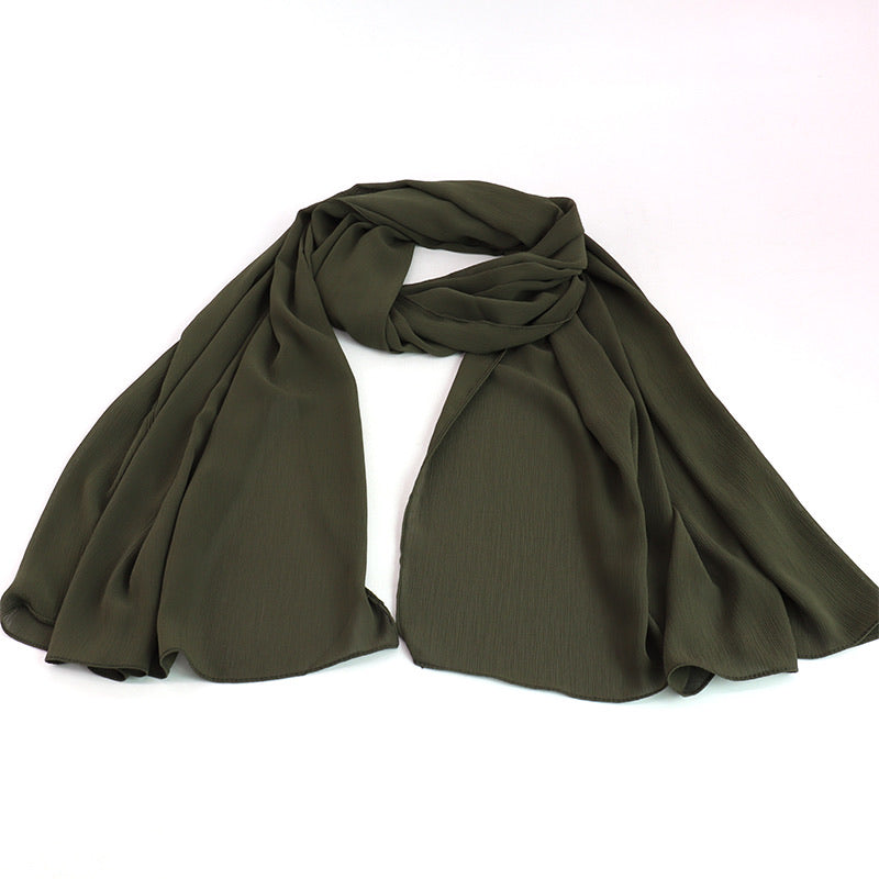 GEORGETTE CHIFFON OLIVE GREEN