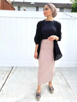 modest skirt, cotton skirt, long summer skirts, long skirt, nude long skirt, long nude skirt