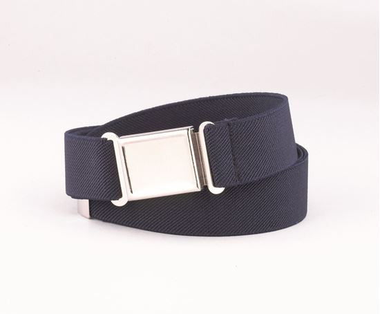 "1"" Elastic Belt with Magnetic Buckle - Navy"
