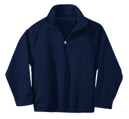 Preschool OLGC Y2XS-YXS Custom Microfleece Quarter Zip - Navy