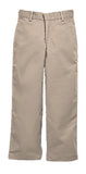HUSKY SIZES - Khaki Plain Front Twill Pants, Relaxed Fit (Male)