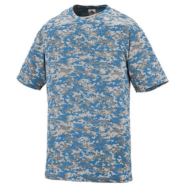 4aeaf97ec4b Vienna Lacrosse OUTLAWS Players Digi Camo Wicking Shooting T-Shirt - All  Sizes Columbia Blue